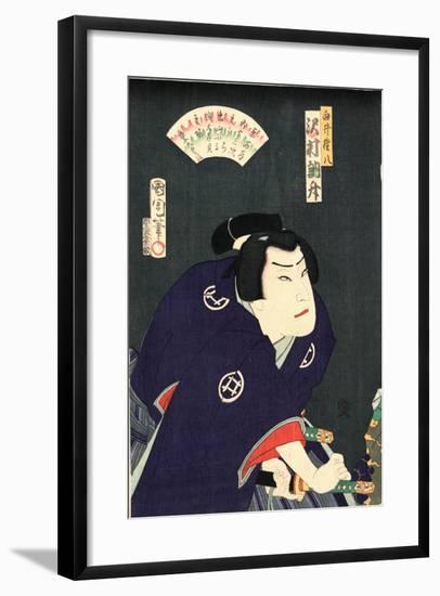 Sawamura Tossho No Shirai Gonpachi-Toyohara Kunichika-Framed Giclee Print