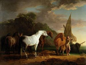Gulliver Taking His Final Leave of the Land of the Houyhnhnms, c.1769 by Sawrey Gilpin