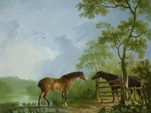 Mare and Stallion in a Landscape by Sawrey Gilpin