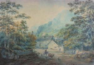 The Village of Rydal, Westmorland by Sawrey Gilpin