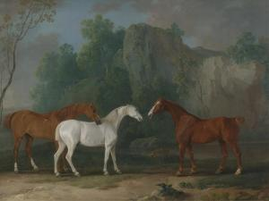 Three Hunters in a Rocky Landscape, 1775 by Sawrey Gilpin