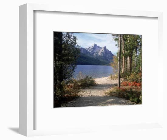 Sawtooth Mountains, ID, Stanley Lake-Mark Gibson-Framed Photographic Print