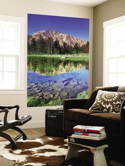 Sawtooth Mountains Reflected in Fourth of July Lake, Idaho, USA-Rob Tilley-Wall Mural