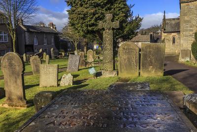 Saxon Cross and Plague Victim's Table Tomb (Catherine Mompesson), Derbyshire-Eleanor Scriven-Photographic Print