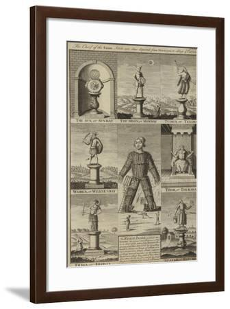 Saxon Idols and the Days of the Week--Framed Giclee Print