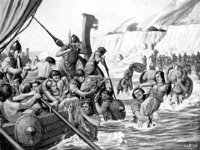 Saxon Raiders-Richard Caton Woodville II-Giclee Print