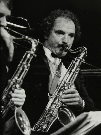 Saxophonist Frank Tiberi Performing at the Forum Theatre, Hatfield, Hertfordshire, 1983-Denis Williams-Photographic Print