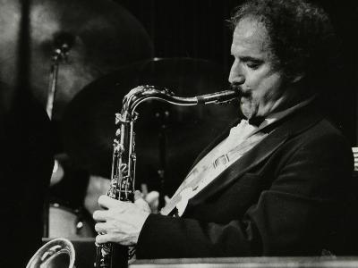 Saxophonist Frank Tiberi Performing at the Forum Theatre, Hatfield, Hertfordshire, 1983-Denis Williams-Photographic Print