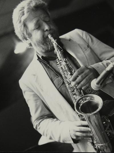 Saxophonist Geoff Simkins Playing at the Fairway, Welwyn Garden City, Hertfordshire, 28 April 1991-Denis Williams-Photographic Print