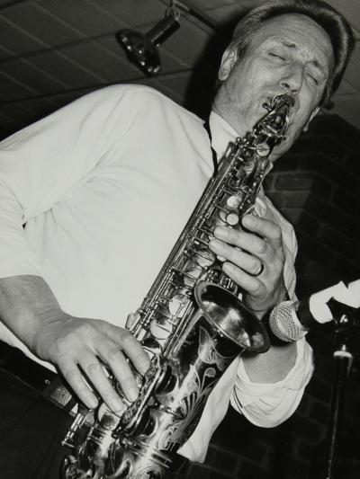 Saxophonist Peter King Playing at the Fairway, Welwyn Garden City, Hertfordshire, 14 April 1991-Denis Williams-Photographic Print