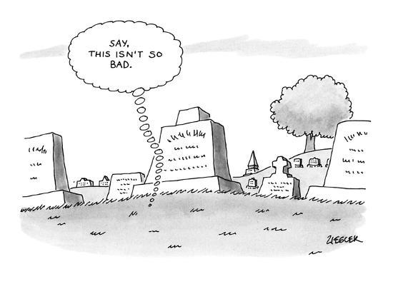 'Say, this isn't so bad.' - New Yorker Cartoon-Jack Ziegler-Premium Giclee Print