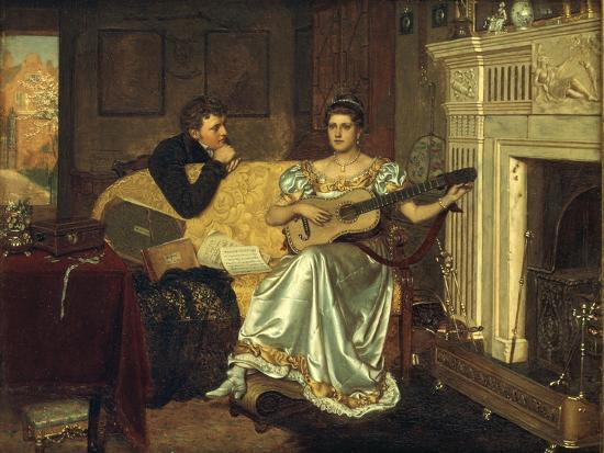 Say, What shall be the Burden of my Song?, 1881-Edmund Blair Leighton-Giclee Print