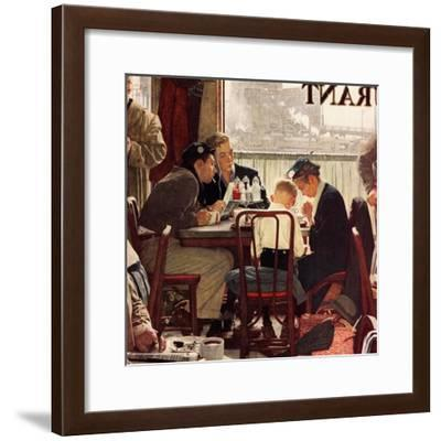 """Saying Grace"", November 24,1951-Norman Rockwell-Framed Giclee Print"