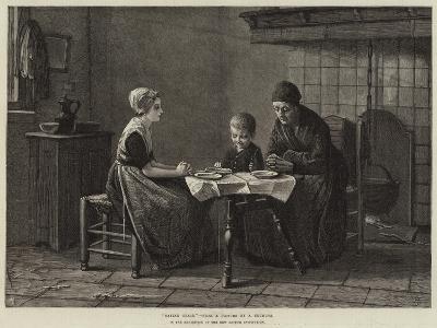 Saying Grace-Albert Neuhuys-Giclee Print