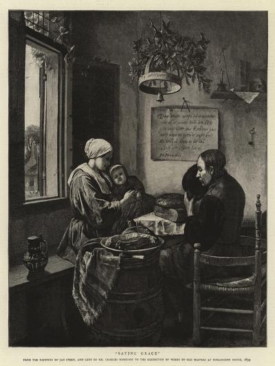 Saying Grace-Jan Havicksz Steen-Giclee Print