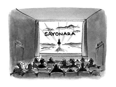 Sayonara' - New Yorker Cartoon-Lee Lorenz-Premium Giclee Print