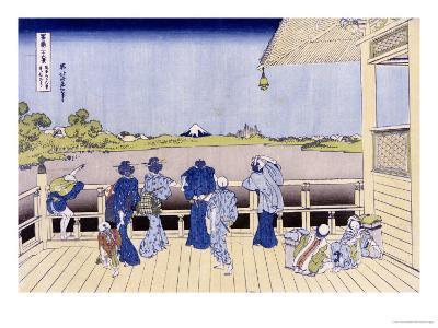 Sazai Hall of Five-Hundred-Rakan Temple-Katsushika Hokusai-Giclee Print