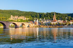 Bridge in Heidelberg, Germany by sborisov