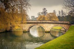 Bridge over Cam River, Cambridge University by sborisov