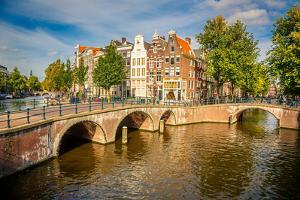 Bridges over Canals in Amsterdam by sborisov