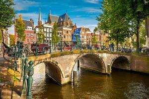 Canal in Amsterdam by sborisov
