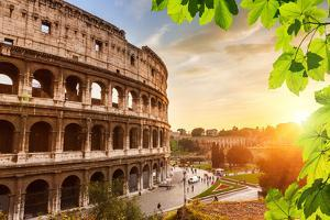 Colosseum at Sunset in Rome, Italy by sborisov