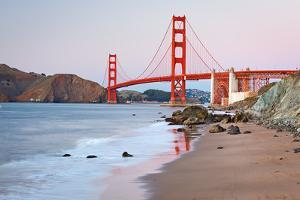 Golden Gate Bridge after Sunset, San Francisco by sborisov