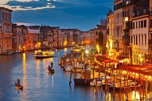 Grand Canal at Night, Venice by sborisov