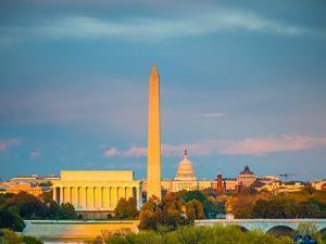 Lincoln Memorial, Washington Monument and Capitol, Washington DC by sborisov