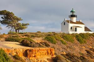 Point Loma Lighthouse in Cabrillo National Park, San Diego by sborisov