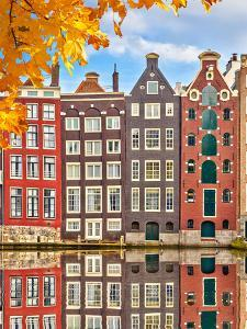 Traditional Old Buildings in Amsterdam, the Netherlands by sborisov