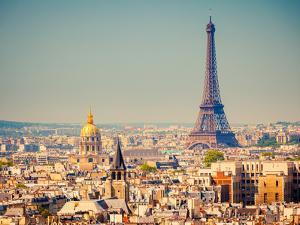 View On Eiffel Tower, Paris, France by sborisov