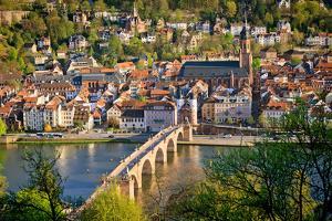 View on Heidelberg at Spring, Germany by sborisov