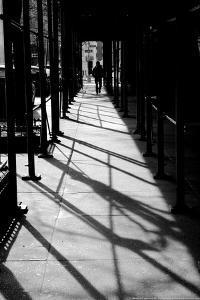 Scaffolding Shadows NYC