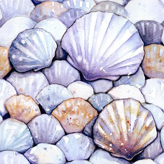 Scallop Shells Amethyst-Sam Nagel-Art Print