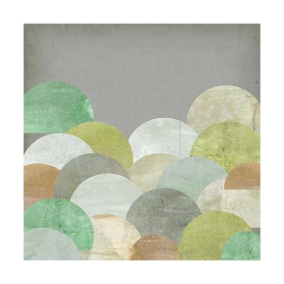 Scalloped Landscape II-Jennifer Goldberger-Art Print