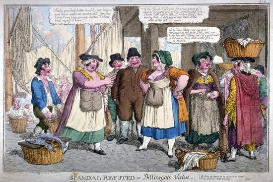 Scandal Refuted, or Billingsgate Virtue, 1818-C Williams-Giclee Print