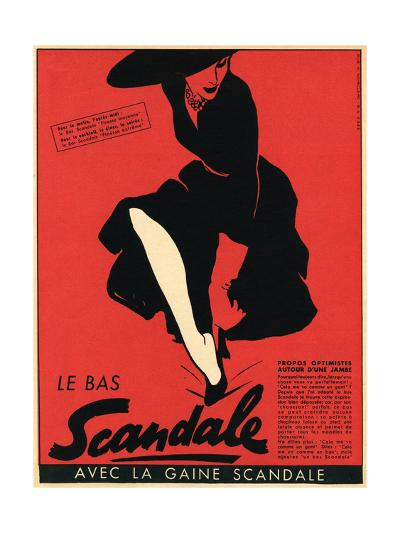 Scandale Stockings 1952--Giclee Print