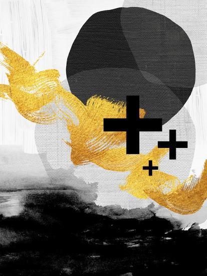 Scandi Black White Gold-Urban Epiphany-Art Print