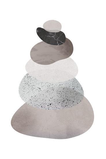 Scandi Stones II-Clara Wells-Giclee Print