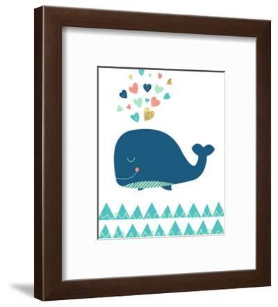 Scandi Whale-Elena David-Framed Art Print