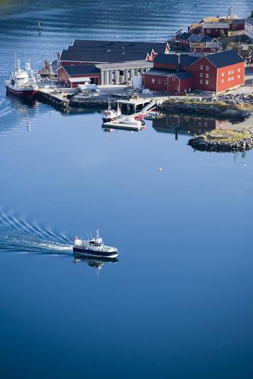 Scandinavia, Norway, Lofoten, Moskenesoey, Pure, Fisher-Place, Harbor, Boats-Rainer Mirau-Photographic Print