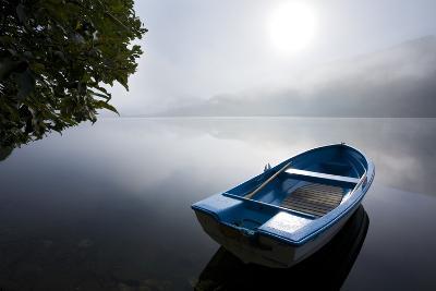 Scandinavia, Norway, Oppheimsvatnet Lake, Rowboat, Fog, Landscape-Rainer Mirau-Photographic Print