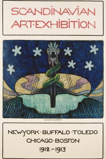 Scandinavian Art Exhibition: 1912-1913 Poster-Gunnar August Hallstrom-Giclee Print