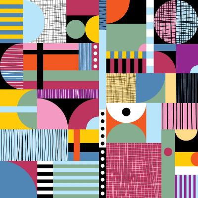 Scandinavian Colorful Pattern-Dmitry Karlov-Art Print