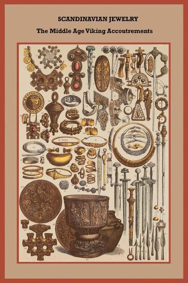 Scandinavian Jewelry the Middle Age Viking Accoutrements-Friedrich Hottenroth-Art Print