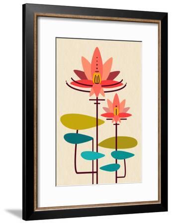 Scandinavian Lotus (White)--Framed Premium Giclee Print