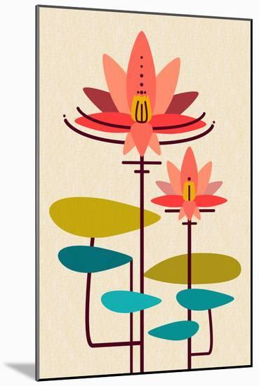 Scandinavian Lotus (White)-null-Mounted Art Print