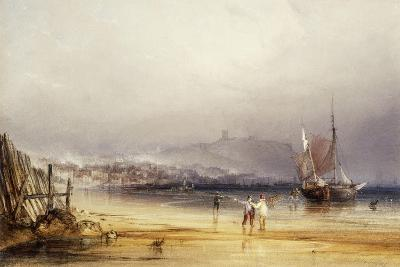 Scarborough Castle from the South, 1838-Anthony Vandyke Copley Fielding-Giclee Print