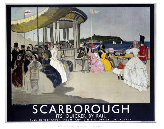 Scarborough, It's Quicker by Rail--Art Print